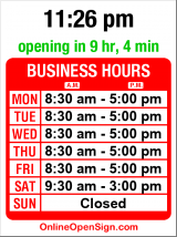 Business hours for US Post Office