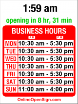 Business hours for Lisa Harris Gallery