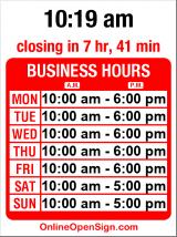 Business hours for Chocolate & Ice Cream Delight
