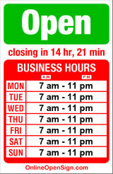 Business hours for PCC Natural Markets