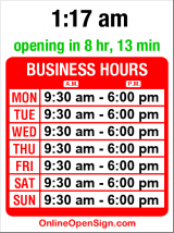 Business hours for Mexican Grocery