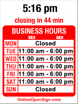 Business hours for Two Big Blondes Consignment