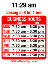 Business hours for Piroshky Piroshky