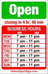 Business hours for Promenade Red Apple Market