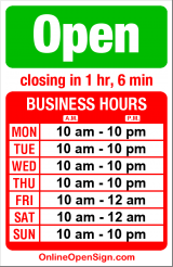 Business hours for Vietnam's Pearl Restaurant