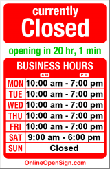 Business hours for Salon Excellence