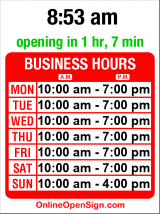 Business hours for Salon 206