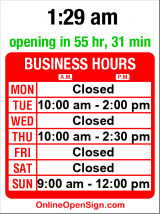 Business hours for Holgate St Church of Christ