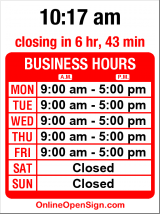 Business hours for Kusak Cut Glass Works
