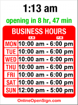 Business hours for Consign Design