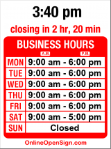 Business hours for LaVassar Florists