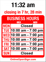 Business hours for Maxwell