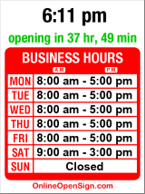 Business hours for Pental Granite & Marble
