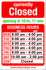Business hours for Florida Tile