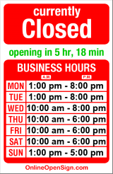 Business hours for Columbia Branch Library