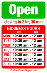 Business hours for Billiard Hoang