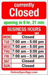 Business hours for Seward Park Family Dental
