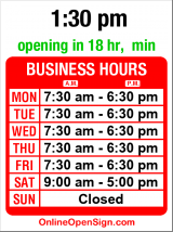 Business hours for Seward Park Cleaners