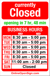 Business hours for SPU Bookstore