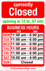 Business hours for Red Bird Sports