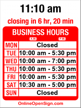 Business hours for Sweet Pea's