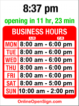 Business hours for KC's Flowers