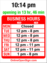 Business hours for Jones Barbecue