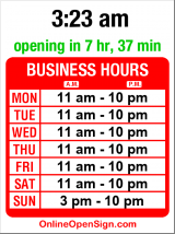 Business hours for El Sombrero