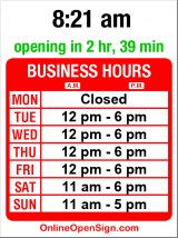 Business hours for Bike Works
