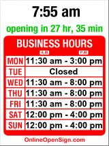 Business hours for Roy's BBQ