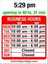 Business hours for Luke's Pharmacy