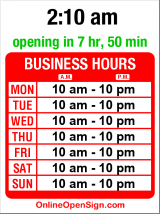 Business hours for Ocean City