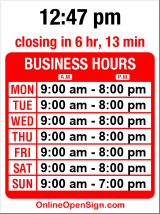 Business hours for Yummy House Bakery