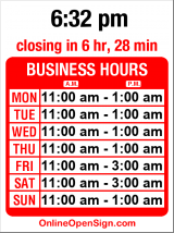 Business hours for Purple Dot Cafe