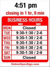 Business hours for Washington State Acupuncture