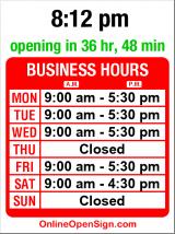 Business hours for Seattle Vision Clinic