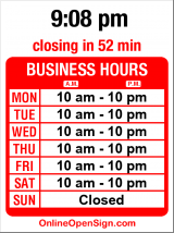 Business hours for Ga Ga Loc