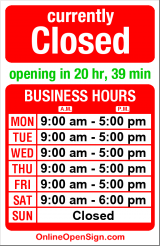 Business hours for Washington Federal Savings
