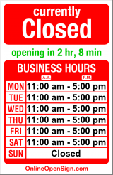 Business hours for Lena's