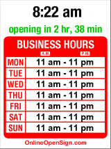 Business hours for New Star Seafood Restaurant