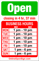 Business hours for Triangle Pub