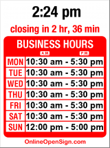 Business hours for NW Fine Woodworking