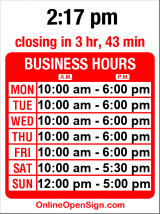 Business hours for Stonington Gallery