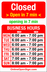 Business hours for Zeitgeist Coffee