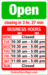 Business hours for Linda Hodges Gallery