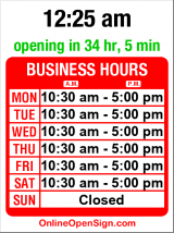 Business hours for The Cutty Sark