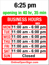 Business hours for Flury & Co