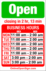 Business hours for Temple Billards