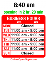 Business hours for Grover Thurston Gallery (MOVED)