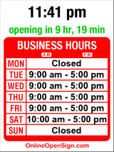 Business hours for Artemide